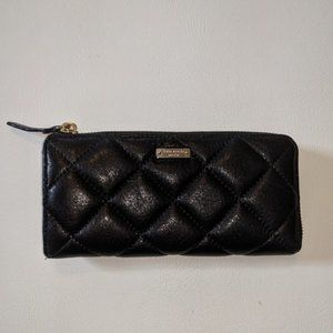 Kate Spade black quilted leather wallet